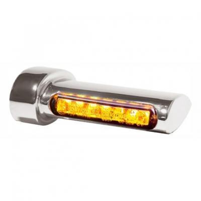 Clignotants de garde-boue arrière Heinz Bikes LED chromé / ambre