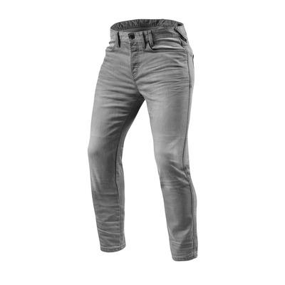 Jeans moto Rev'it Piston longueur 34 (standard) gris clair