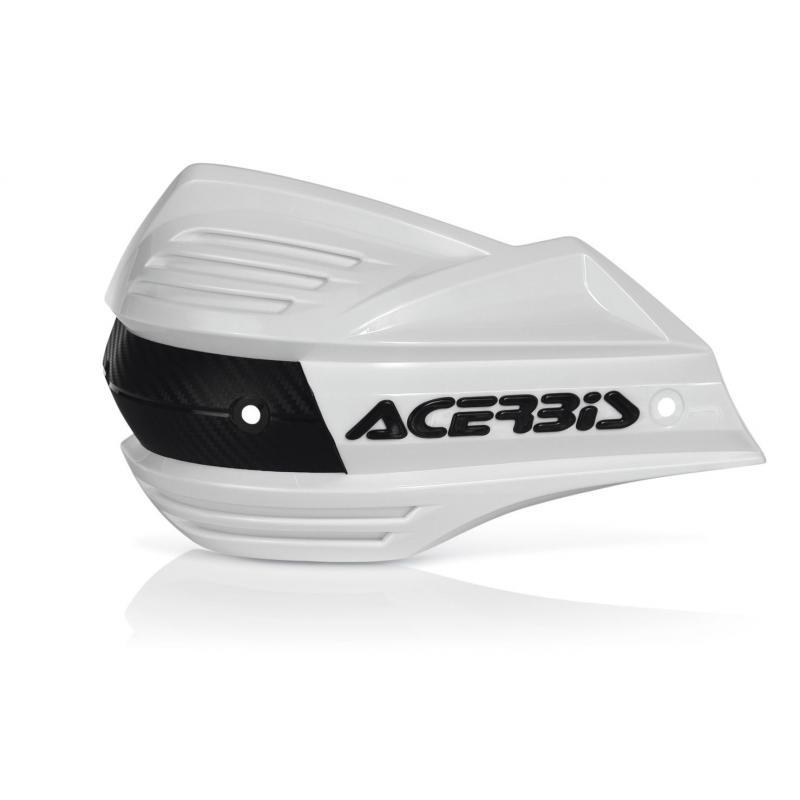 Plastiques de remplacement Acerbis pour protège-mains X-Factor blanc (paire)