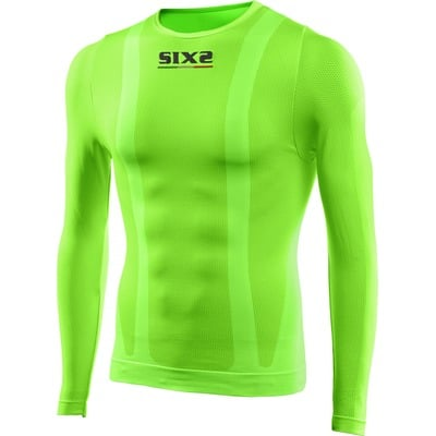 T-shirt manches longues mixte Sixs TS2 vert fluo