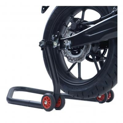 Tampons de bras oscillant R&G Racing noir sur platine Honda CB 300 R Neo Sport Cafe 19-20