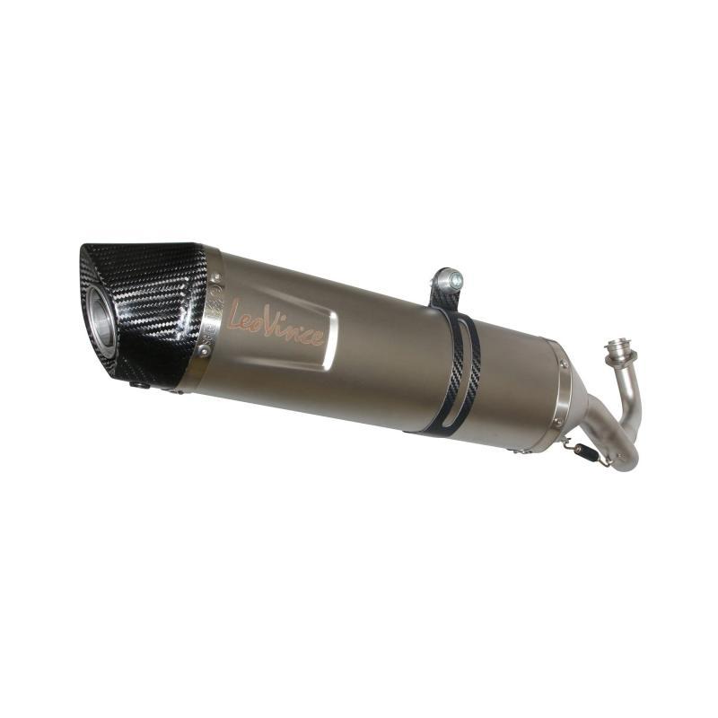 Silencieux Leovince LV One Evo inox casquette carbone pour Piaggio MP3 500 11-16