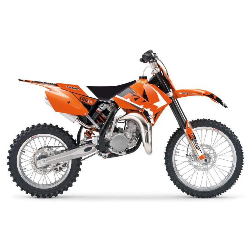 Kit déco + housse de selle Blackbird Dream Graphic 4 KTM 85 SX06-12 noir/orange