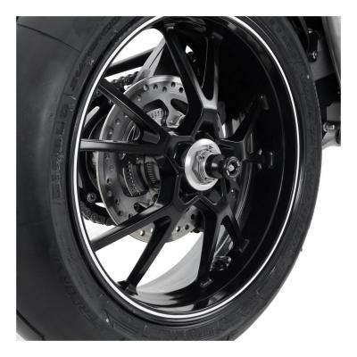 Tampons de bras oscillant R&G Racing noir Triumph Speed Triple 1050 11-15