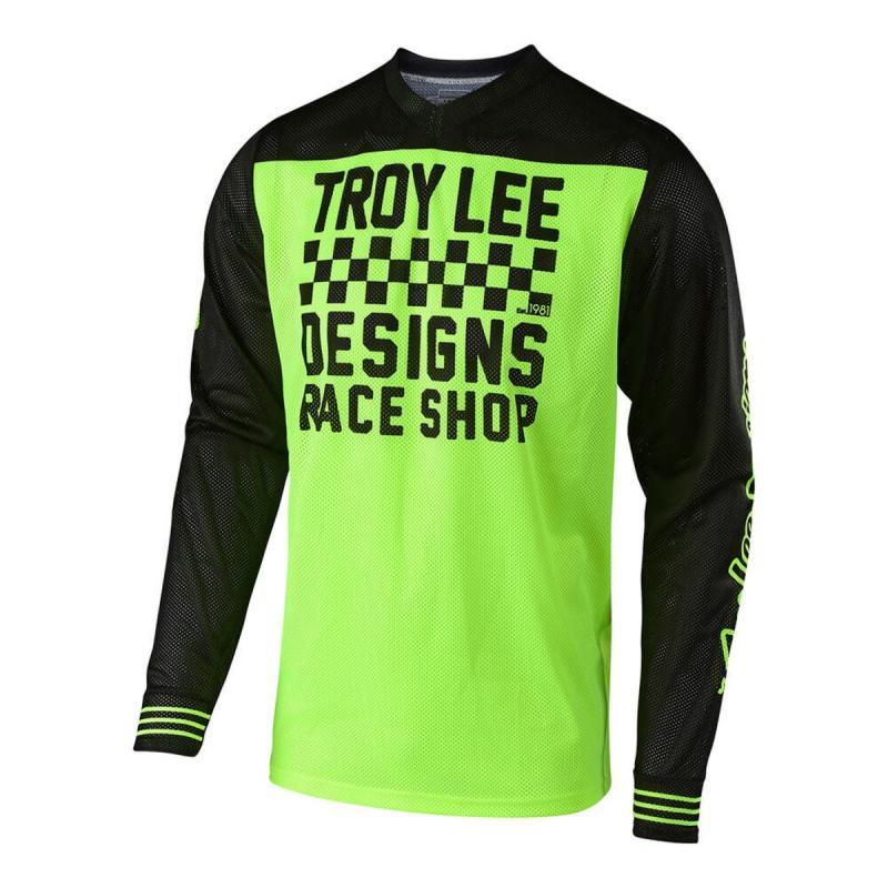Maillot cross Troy Lee Designs GP Air Raceshop jaune