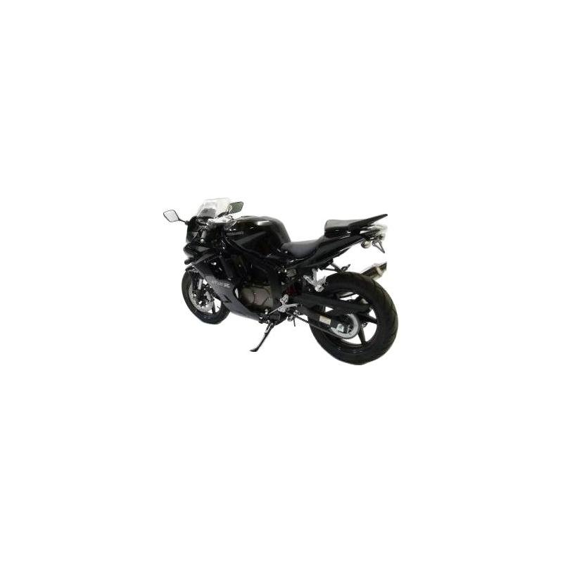 Support de plaque d'immatriculation R&G Racing noir Hyosung GT 125 R 06-14