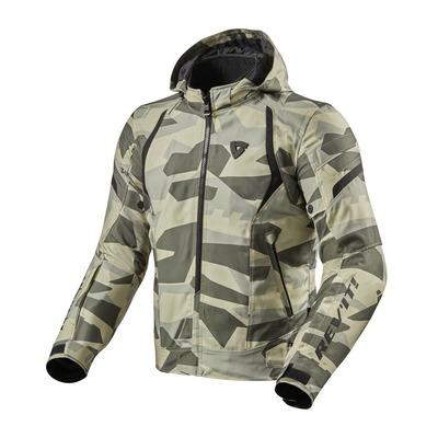 Blouson textile Rev'it Flare 2 camouflage vert clair