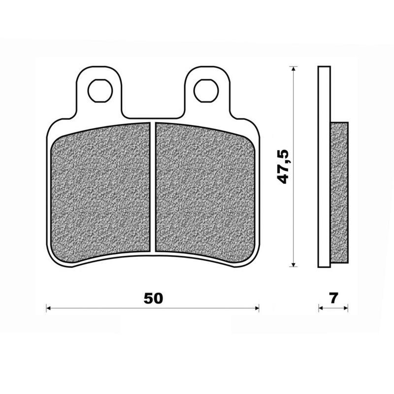 Plaquettes de frein Newfren Standard organique .FD.0323 BKS