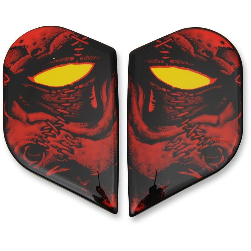 Plaques latérales Icon pour casque Alliance GT Horror rouge