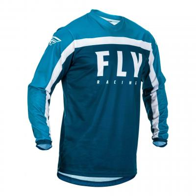 Maillot cross enfant Fly Racing F-16 navy/bleu/blanc