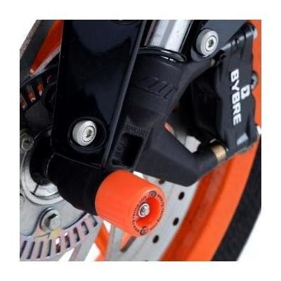 Tampons de protection de fourche R&G Racing oranges KTM Duke 390 14-18