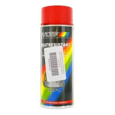 Bombe peinture rouge haute-température 300°C Motip 400ml