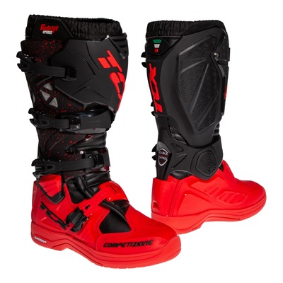Bottes cross TCX Comp Evo 2 Michelin noir/rouge