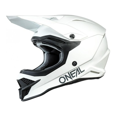 Casque cross O'Neal 3SRS Solid blanc