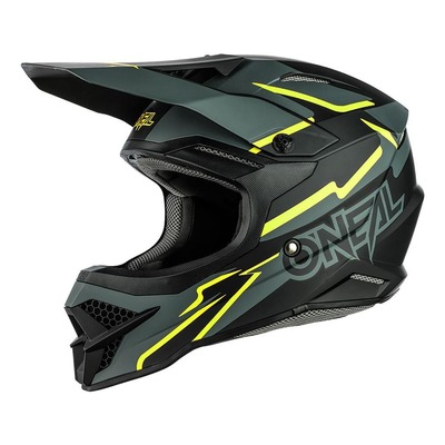 Casque cross O'Neal 3SRS Voltage noir/jaune fluo