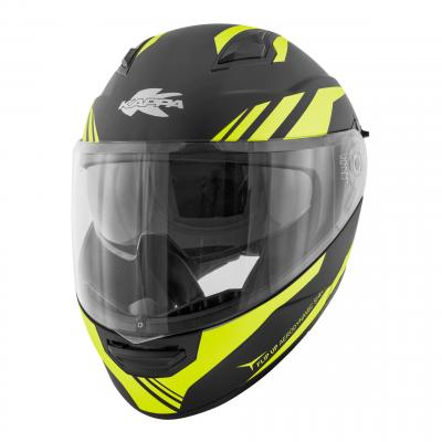 Casque modulable Kappa KV31 Arizona Phantom noir mat/jaune fluo