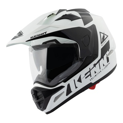 Casque trail Kenny Extreme Graphic blanc/noir