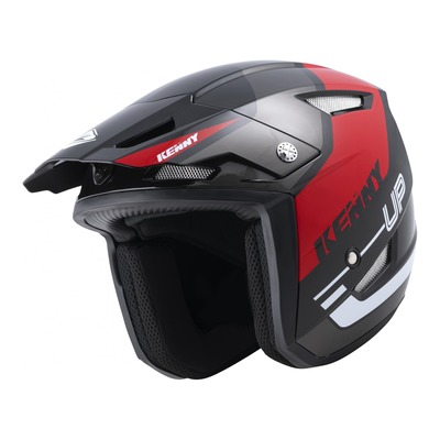 Casque trial Kenny Trial-up Graphic noir/rouge brillant 2022