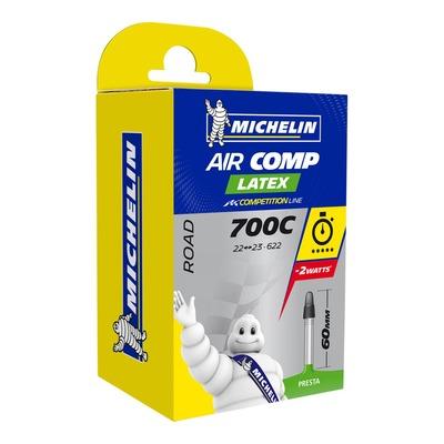 Chambre à air vélo Michelin Air Stop 700 x 22/23C A1 Air Comp Latex Presta 60mm