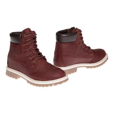 Chaussures moto femme cuir/textile Ixon Mud WP bordeaux
