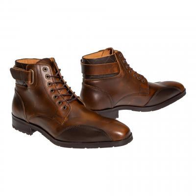 Chaussures moto Helstons James camel/marron