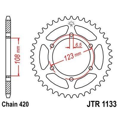 Couronne JT Sprockets Acier pas 420 52 dents - Pour Peugeot XR6 50 02-06