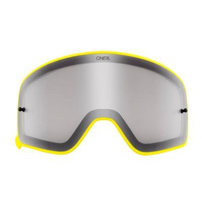 Écran O'Neal pour masque B 50 fumé avec cadre jaune