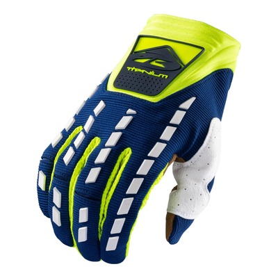 Gants cross Kenny Titanium navy/jaune fluo