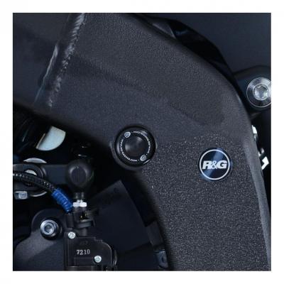 Insert de cadre R&G Racing gauche noir Yamaha YZF-R6 17-18