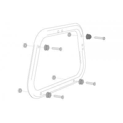 Kit d'adaptation sur support de valises SW-MOTECH EVO pour valises latérales AERO ABS