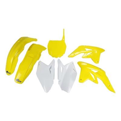 Kit plastique UFO Suzuki 250 RM-Z 2009 jaune/blanc (couleur origine)