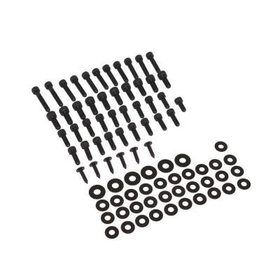Kit vis de carrosserie Replay acier noir pour trekker/squab