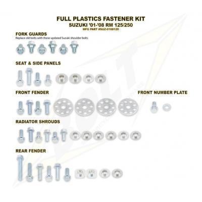 Kit visserie complet de plastiques Bolt pour Suzuki RM 125 01-08