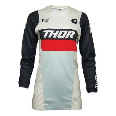 Maillot cross femme Thor Pulse Racer vintage blanc/midnight