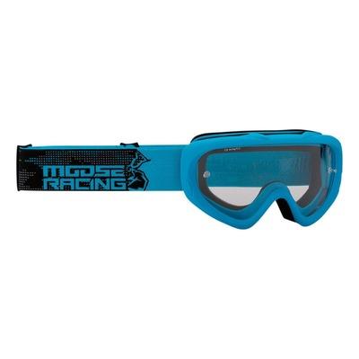 Masque cross enfant Moose Racing Qualifier Agroid bleu/noir – écran clair