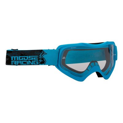 Masque cross Moose Racing Qualifier Agroid bleu/noir – écran clair