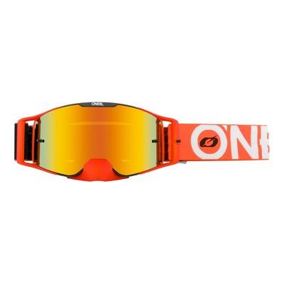 Masque cross O'Neal B-30 Bold noir/orange – écran iridium rouge