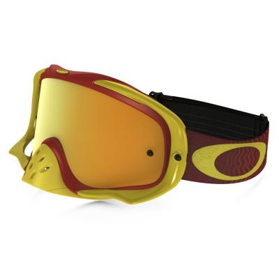 Masque cross Oakley Crowbar Shockwave jaune/rouge écran 24K iridium