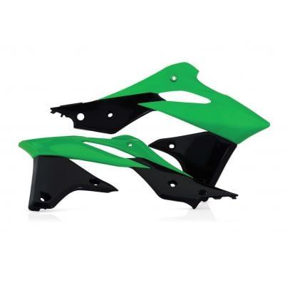 Ouïes de radiateur Acerbis Kawasaki 250 KXF 13-16 vert/noir (paire)
