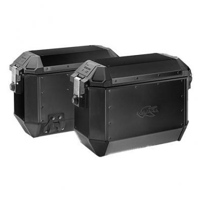 Paire de valises latérales Kappa K-Mission 36+36 Litres aluminium noir