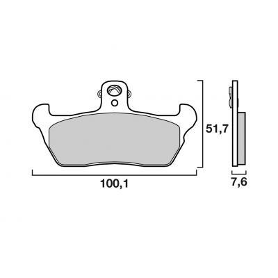 Plaquettes de frein Brembo carbone-céramique 07BB1606