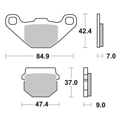 Plaquettes de frein SBS métal fritté 544SI