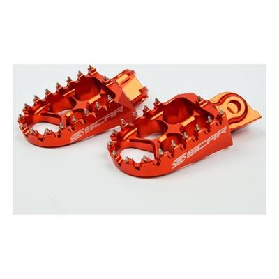 Reposes pieds Scar Evolution orange pour KTM SX 85 03-16