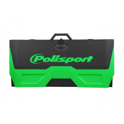 Tapis récupérateur pliable Polisport Bike Mat bicolore vert/noir