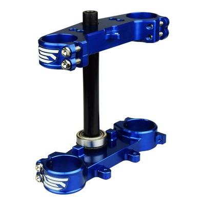 Té de fourche Scar bleu offset 25 mm pour Yamaha 65 YZ 65 18-21