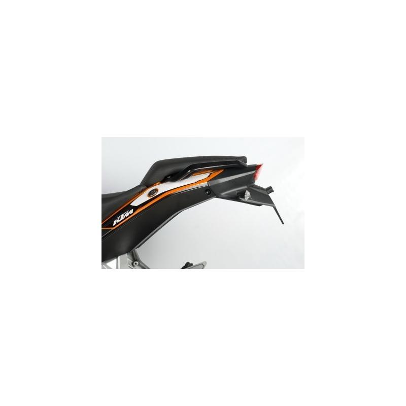 Support de plaque d'immatriculation R&G Racing noir KTM Duke 390 13-16 - 1