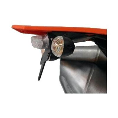 Support de plaque d'immatriculation R&G Racing noir KTM Duke 390 13-16