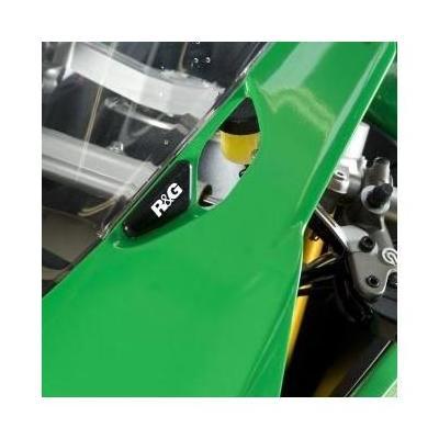 Caches orifices de rétroviseur R&G Racing noirs Ducati Panigale 899 13-15