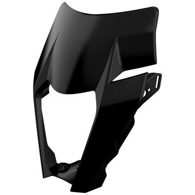Plastique plaque phare Polisport KTM 125 EXC 2017 noir