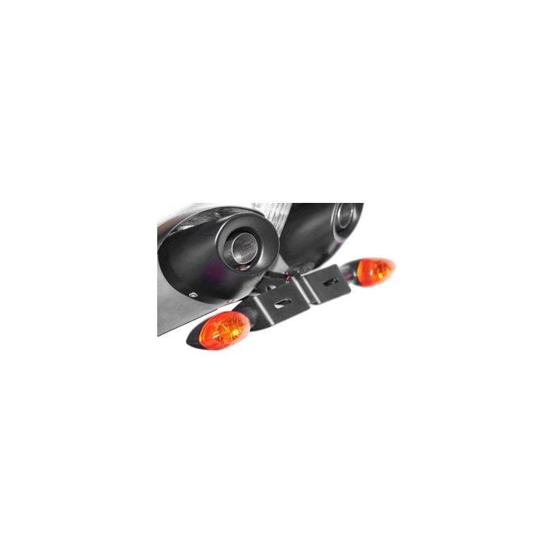 Support de plaque d'immatriculation R&G Racing noir Yamaha FZ6 04-10